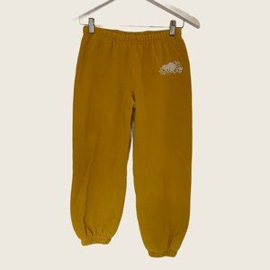 Roots Canada Camp Yellow Cropped Sweatpants